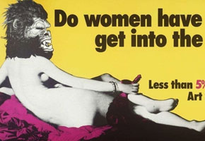 Guerrilla Girls billboard | Photo courtesy of Beyond the Streets